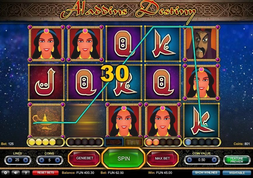 Aladdins Destiny Slot Review