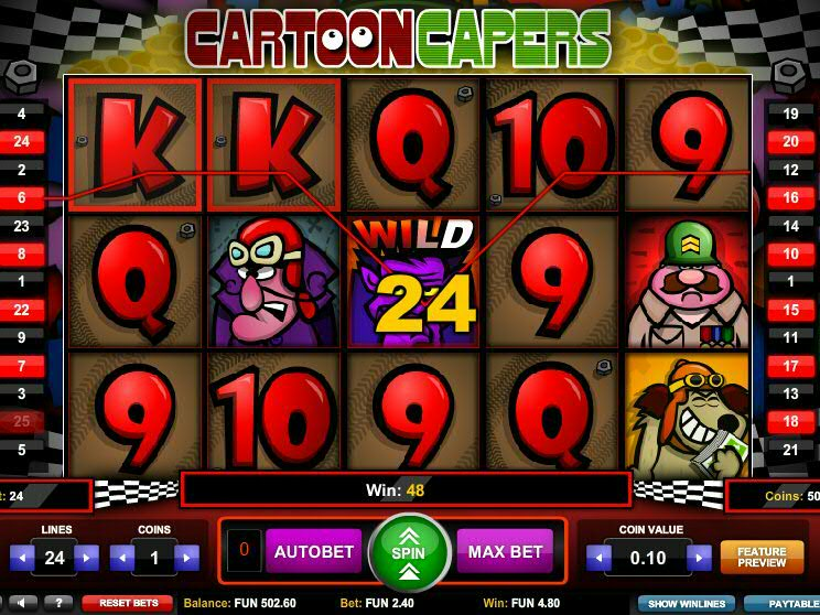 Cartoon Capers Slot Review