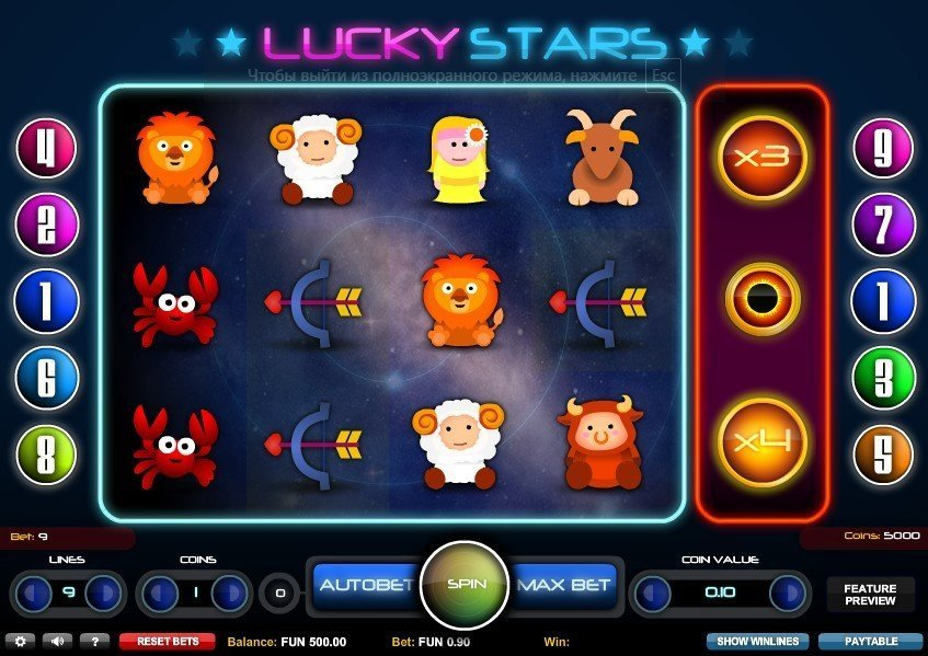 Lucky Stars Slot Review