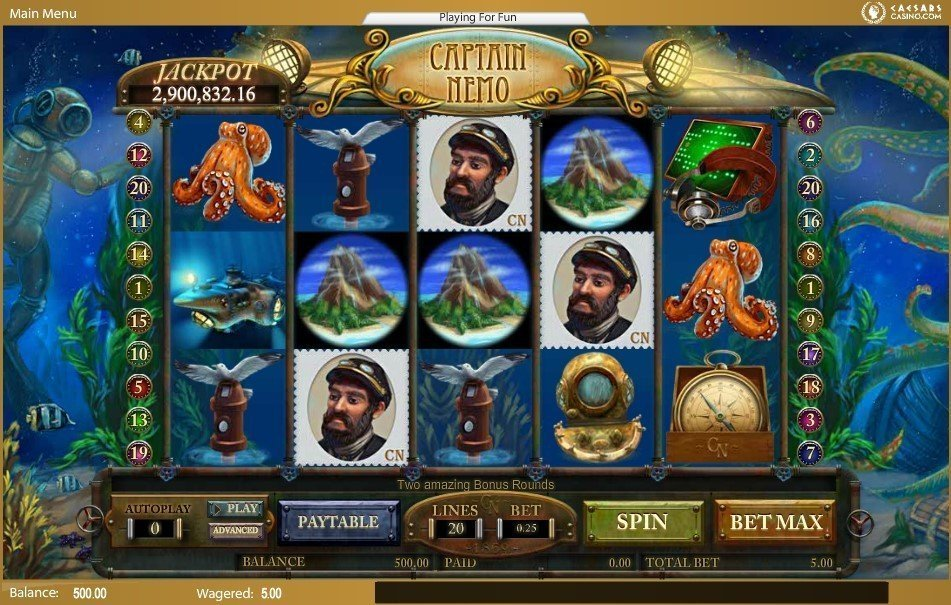 Captain Nemo Slot Review