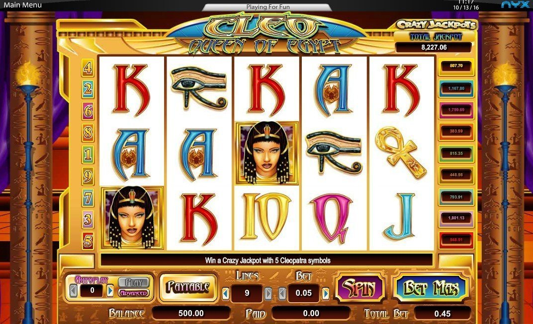 Cleo Queen Of Egypt Slot Review
