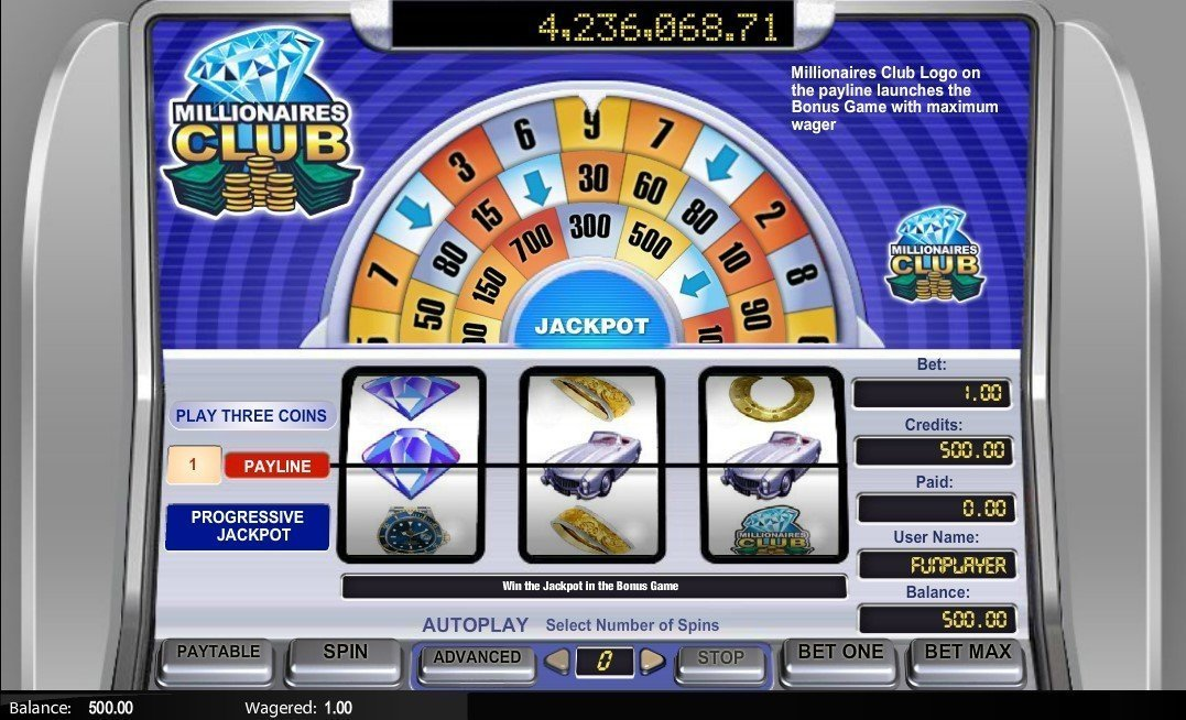 Millionaires Club 1 Slot Review