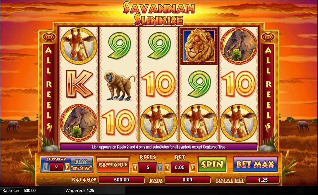 Savannah Sunrise Slot Review