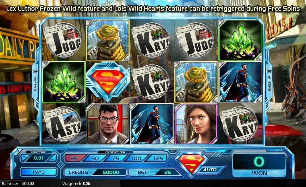 Superman Last Son Of Krypton Slot Review