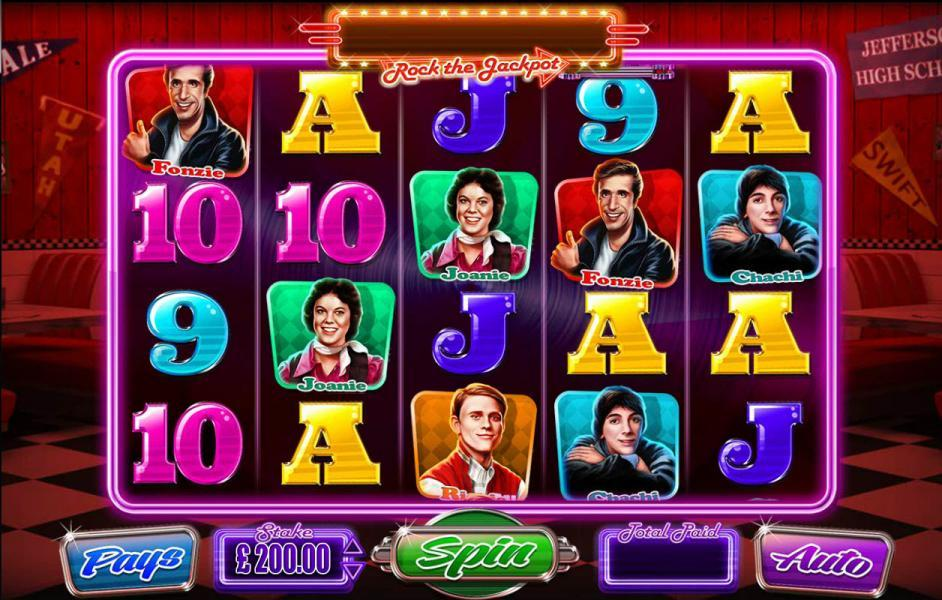 Happy Days Rock The Jackpot Slot Review