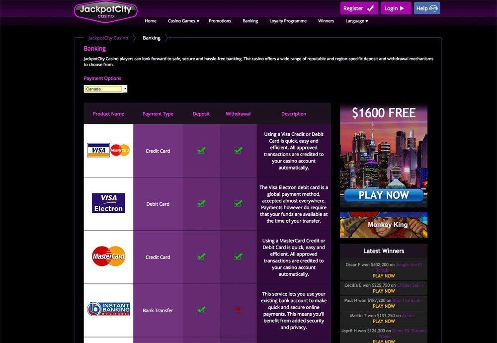 jackpotcity online casino paysafe automaten