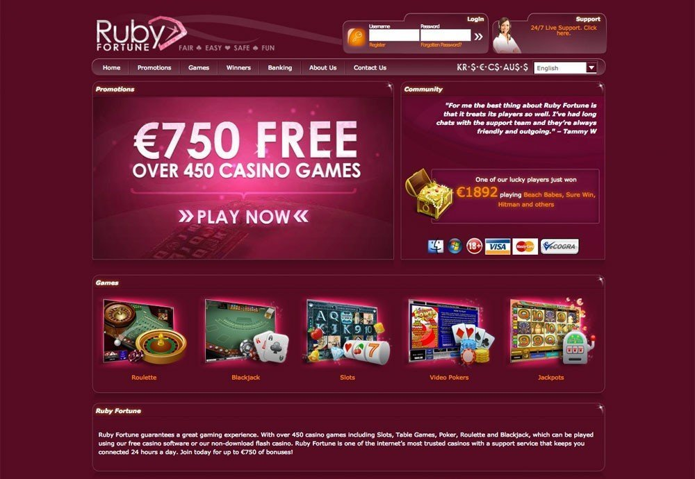 Ruby Fortune Casino Free Slots