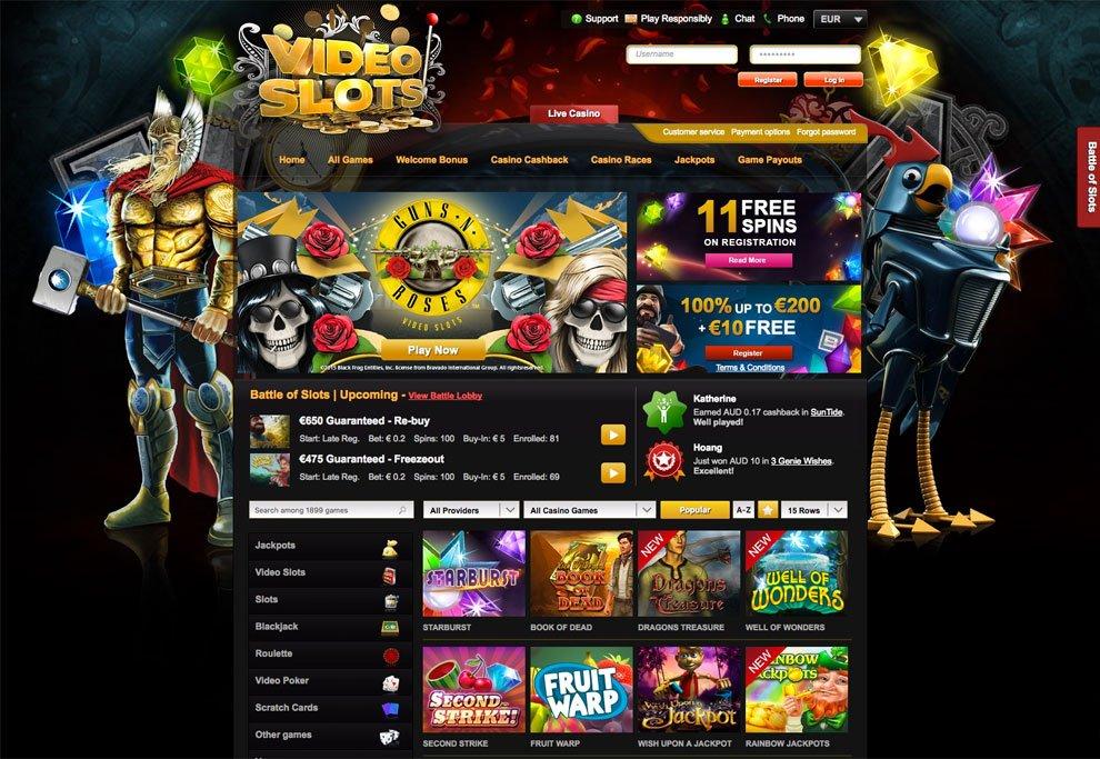 Videoslots Casino   210 Signup Bonus + 11 Welcome Spins on Starburst