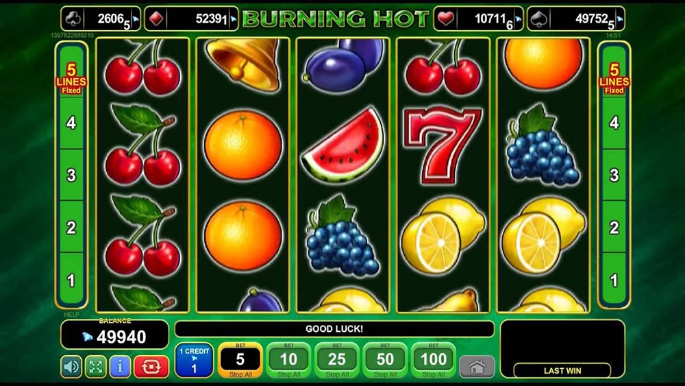 online slot games for money sizlling hot