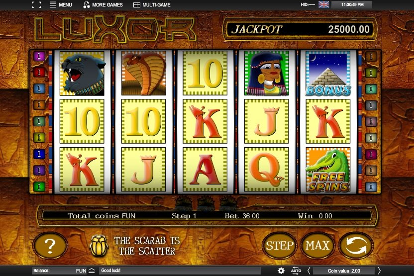 Luxor Slot Machine - Play Espresso Games Casino Games Online