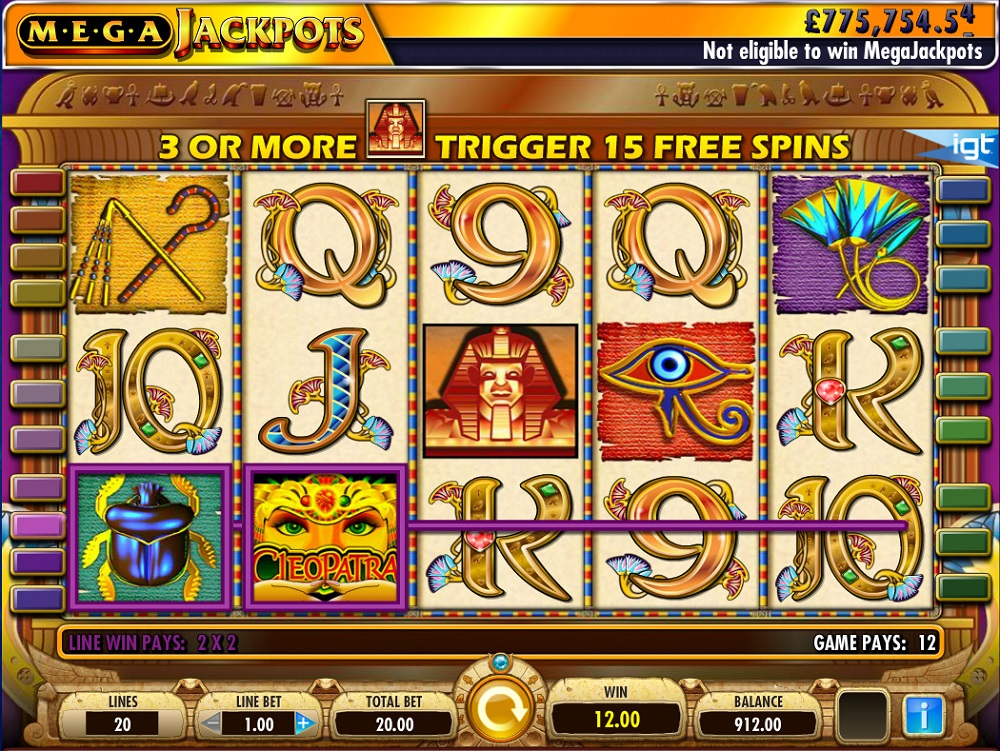 Cleopatra Megajackpots Slot Review