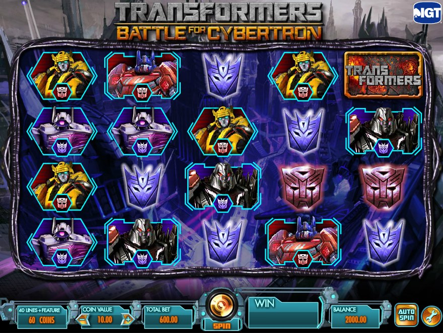 Transformers Battle For Cybertron Slot Review