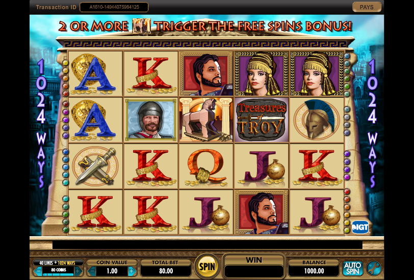 Treasures Of Troy Slot Review