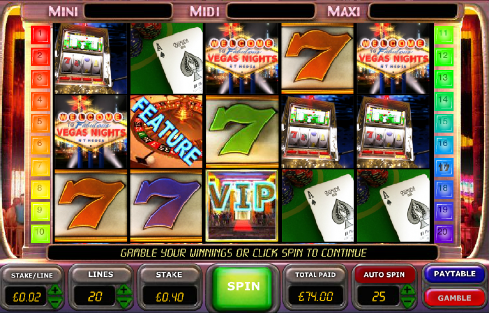 New Vegas Nights Slot