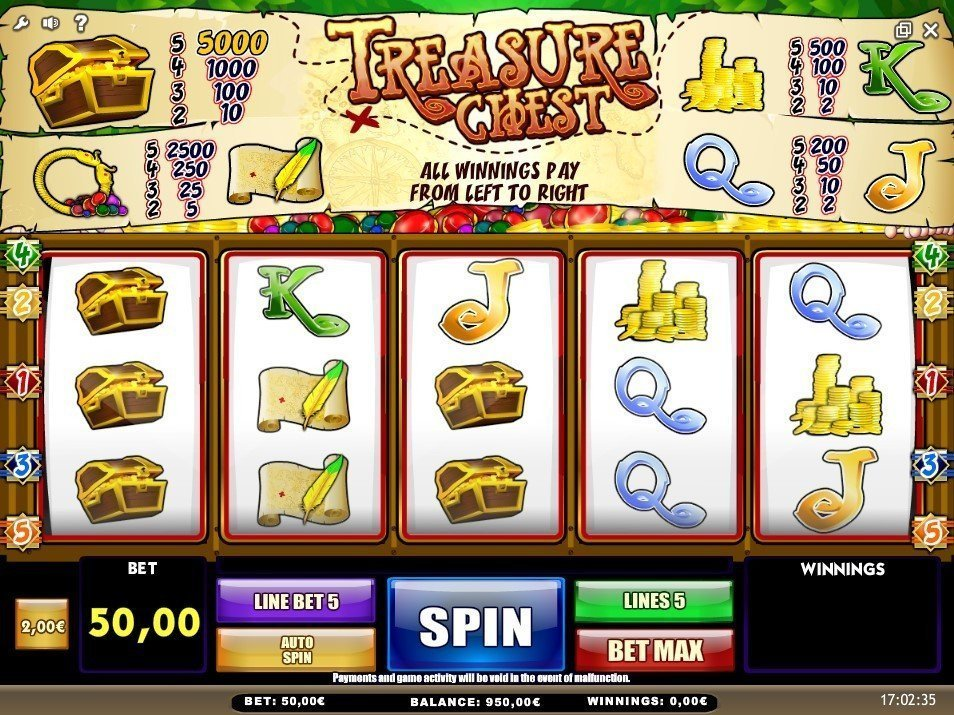 Treasure Chest Slot Review