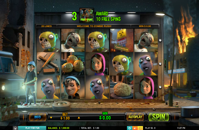 Zombie Rush Slot Review