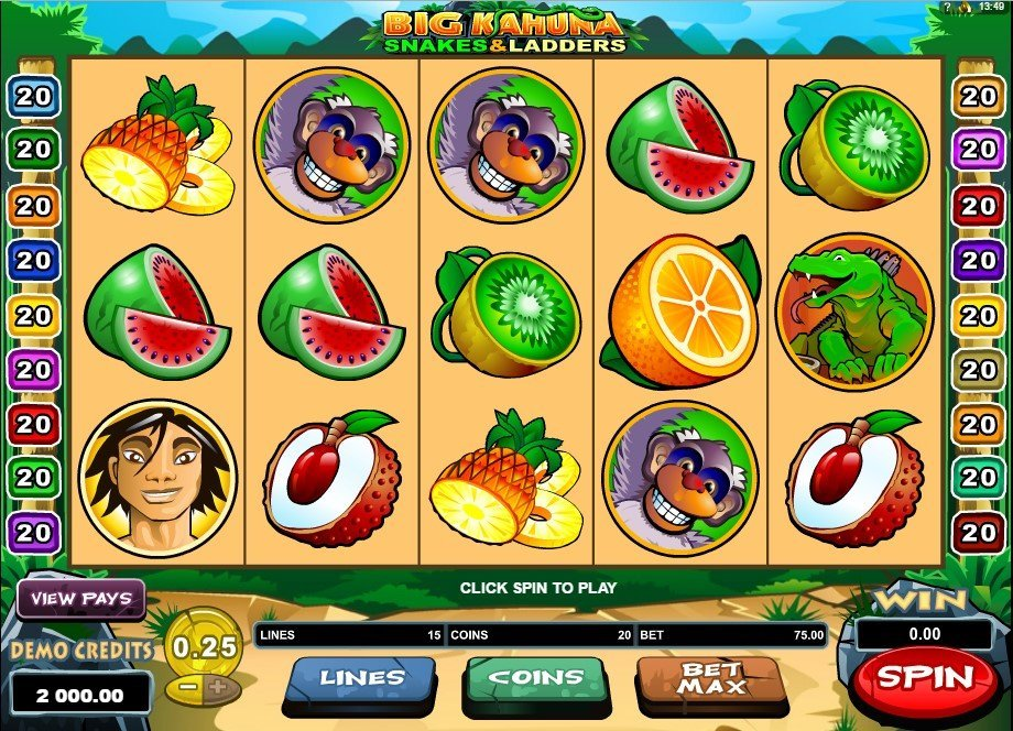 Big Kahuna Snakes Ladders Slot Review