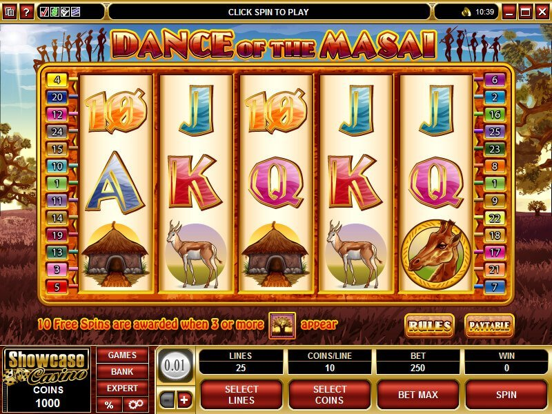 Dance Of The Masai Slot Review