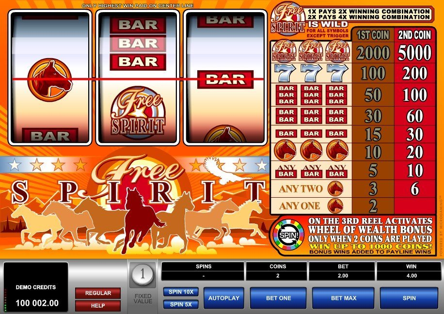 Free Spirit Wheel Of Wealth Slot Review