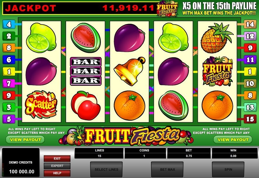 Fruit Fiesta 5 Reel Slot Review
