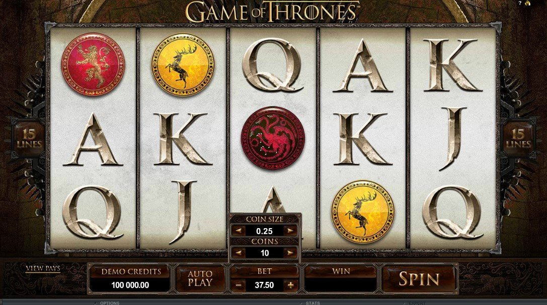 Game Of Thrones 15 Paylines Slot Review