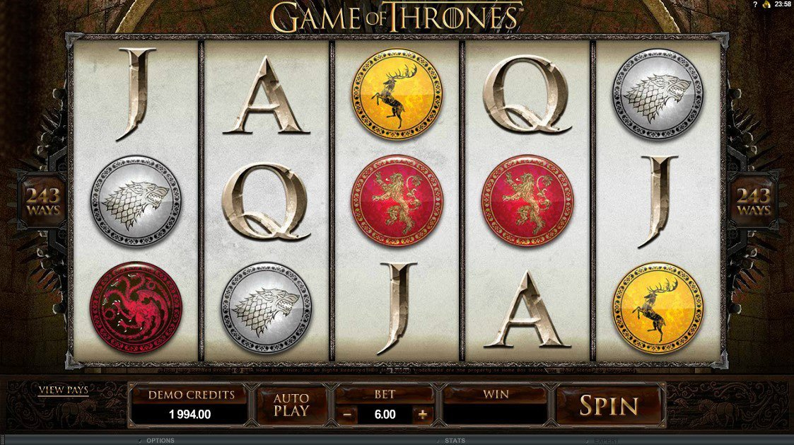 Game Of Thrones 243 Paylines Slot Review