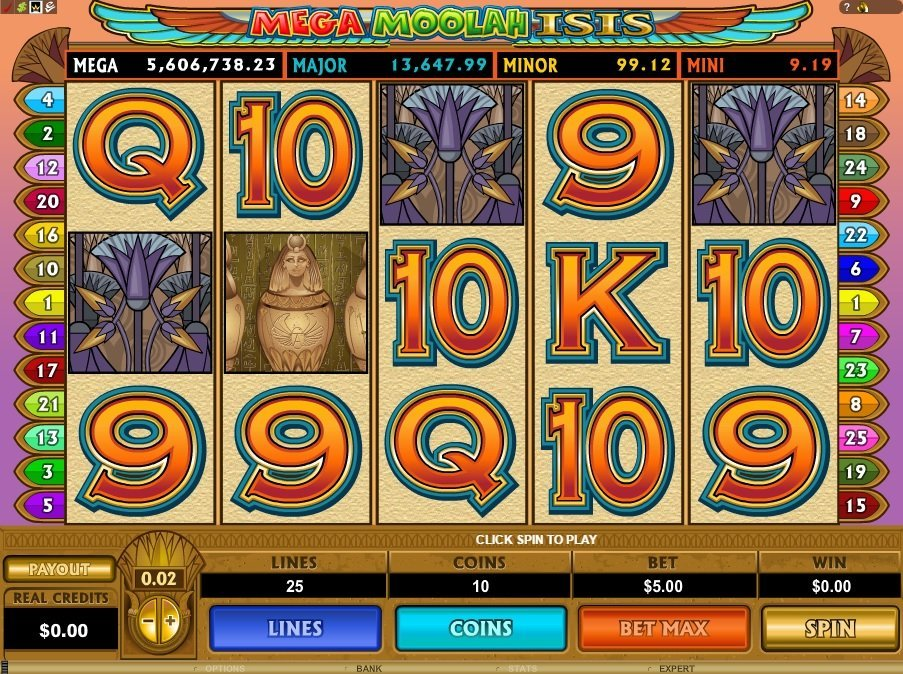 Mega Moolah Isis Slot Review