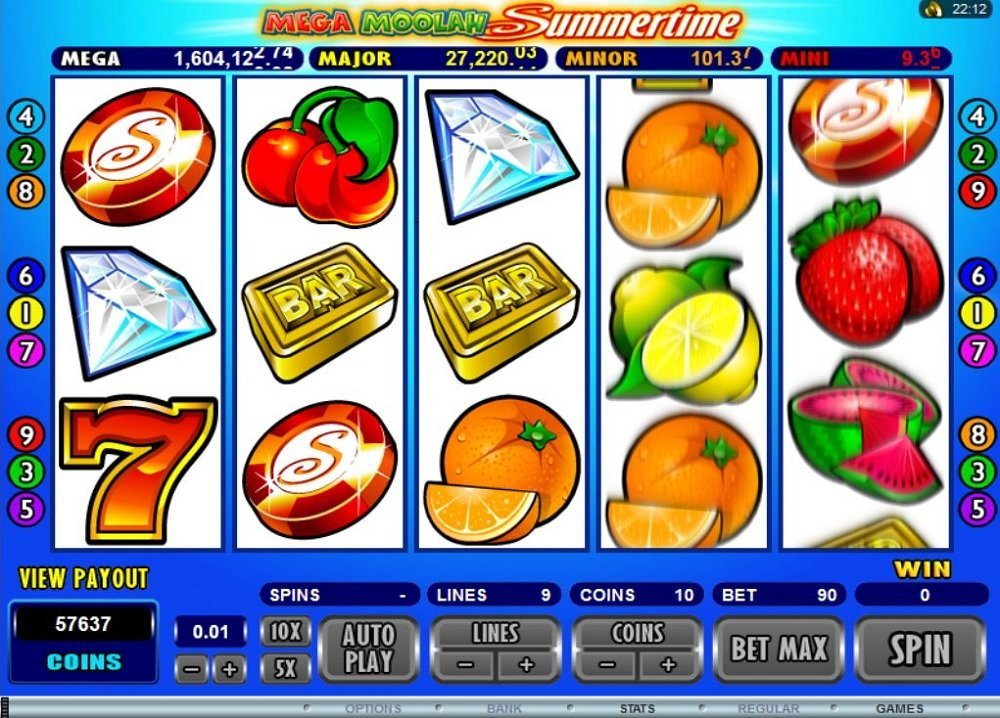 Mega Moolah Summertime Slot Review
