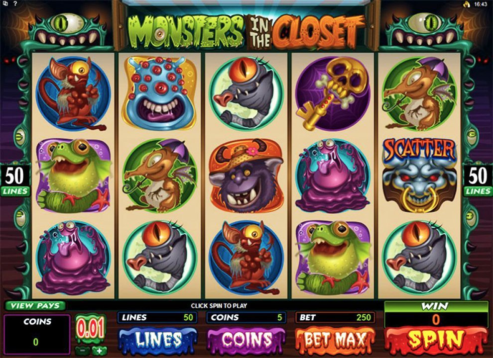 Monsters In The Closet Slot Review