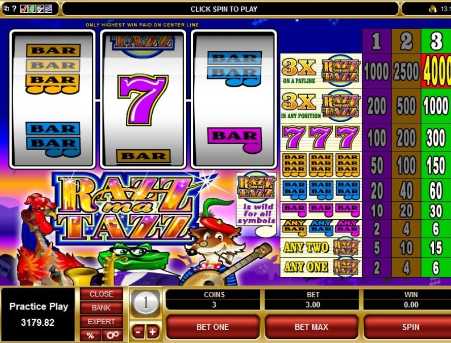 Razzmatazz Slot Review