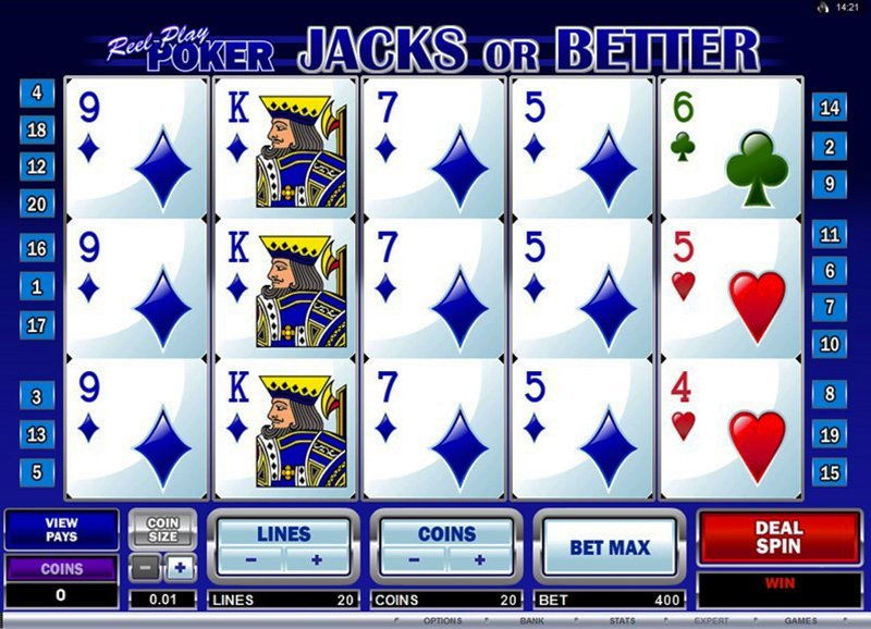Reel Play Poker Jacks Or Better Slot Review