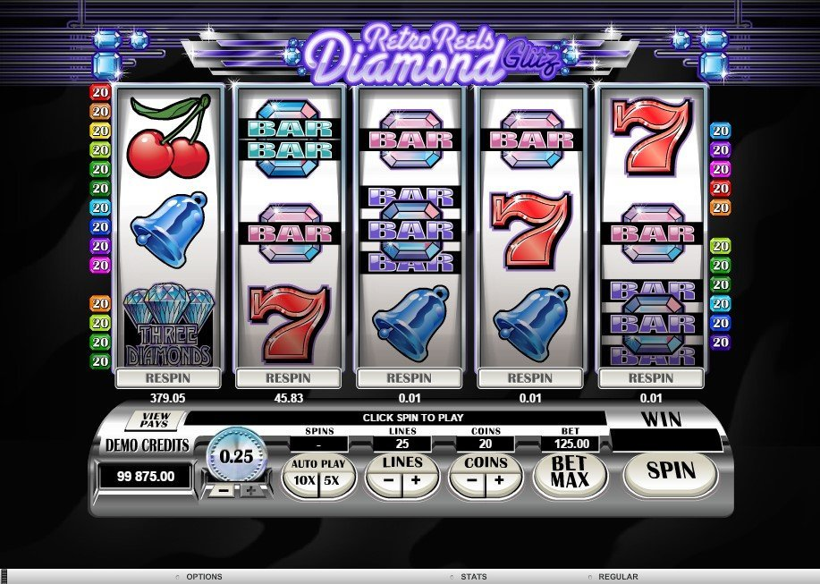Retro Reels Diamond Glitz Slot Review