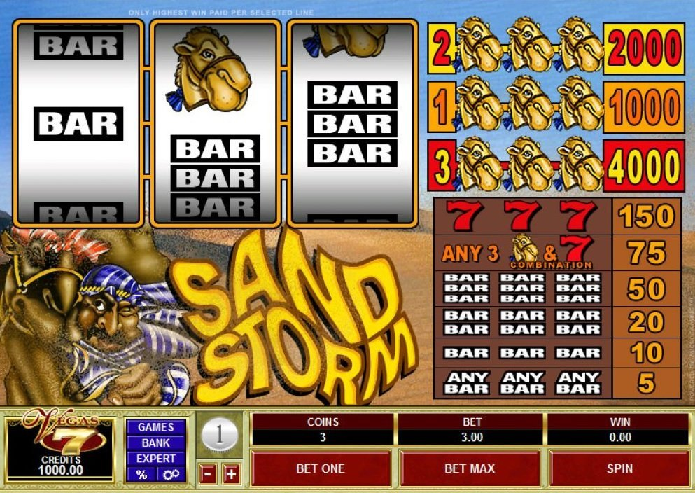 Sand Storm Slot Review