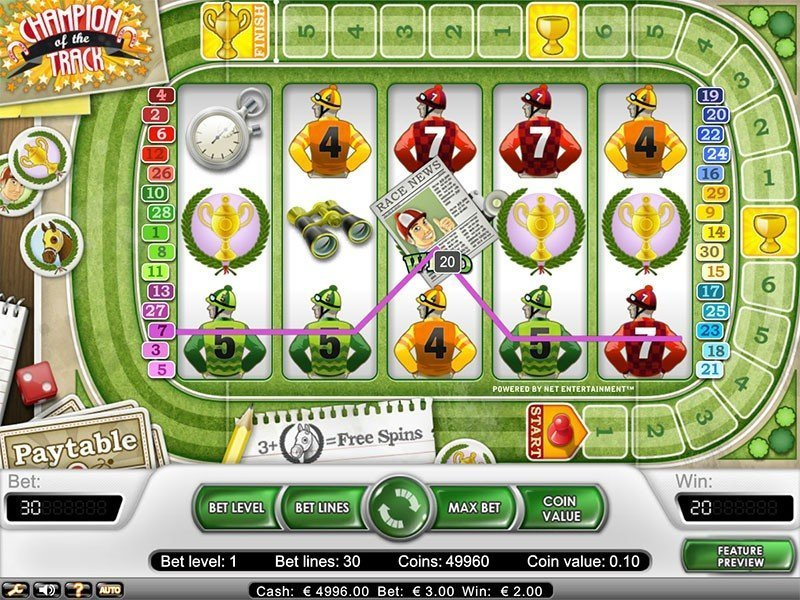 Champion Of The Track Slot Review