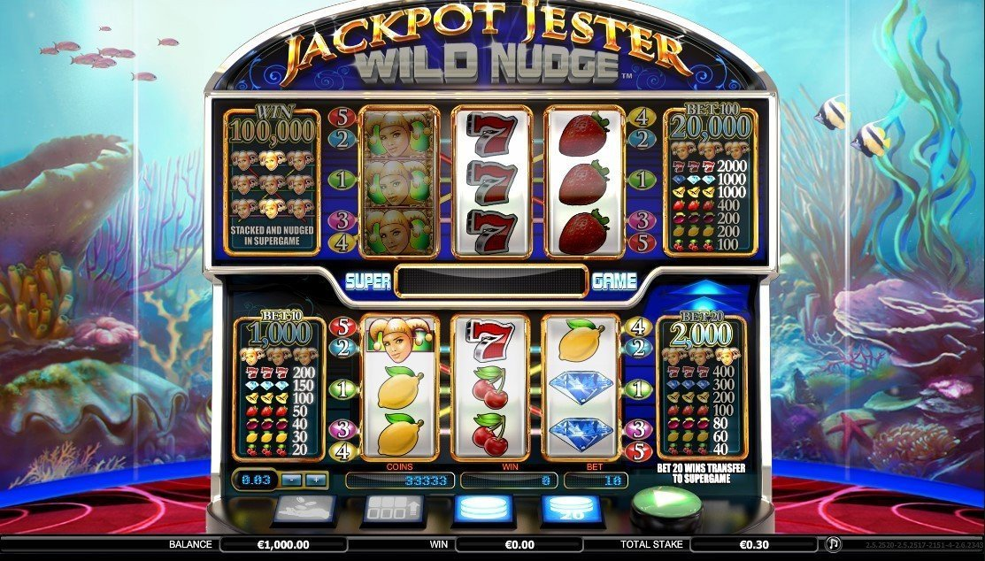 Jackpot Jester Wild Nudge Slot Review
