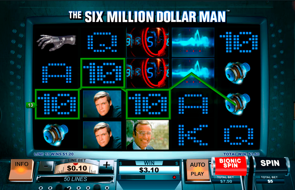 The Six Million Dollar Man Slot Review