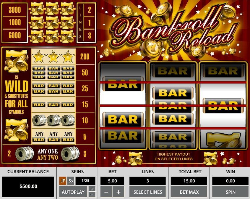 Bankroll Reload 3 Lines Slot Review