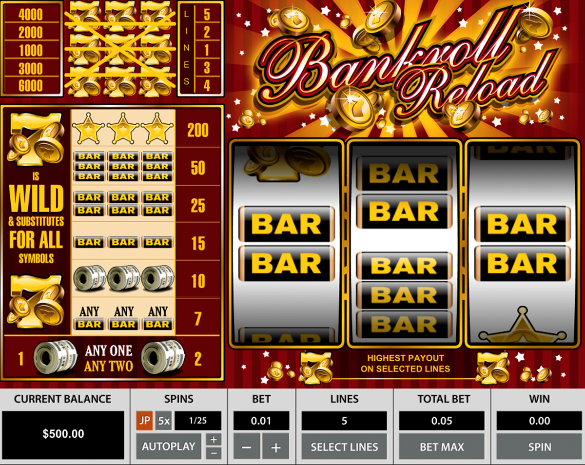 Bankroll Reload 5 Lines Slot Review