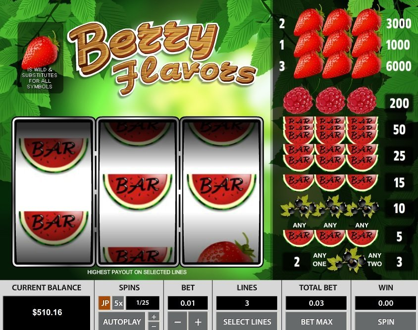 Berry Flavors 3 Lines Slot Review