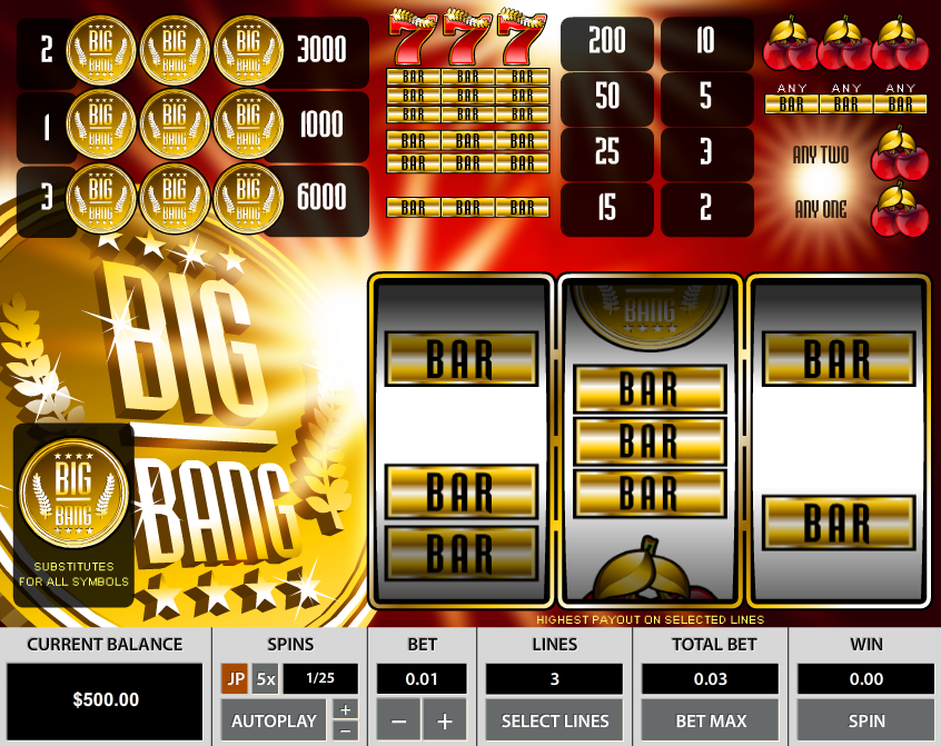Big Bang 3 Lines Slot Review