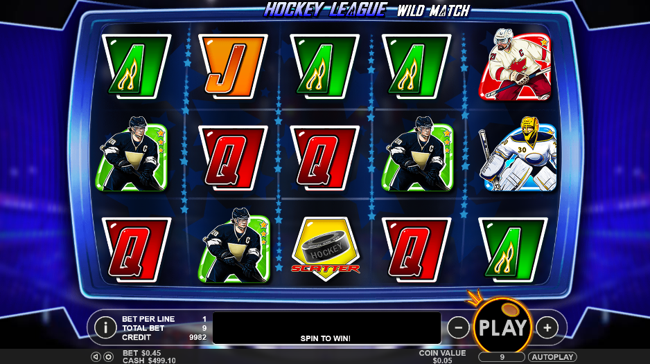 Hockey League Wild Match Slot Review