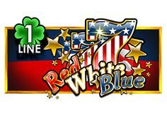 Red White Blue 1 Line Slot