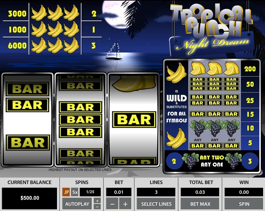 Tropical Punch Night Dream 3 Lines Slot Review