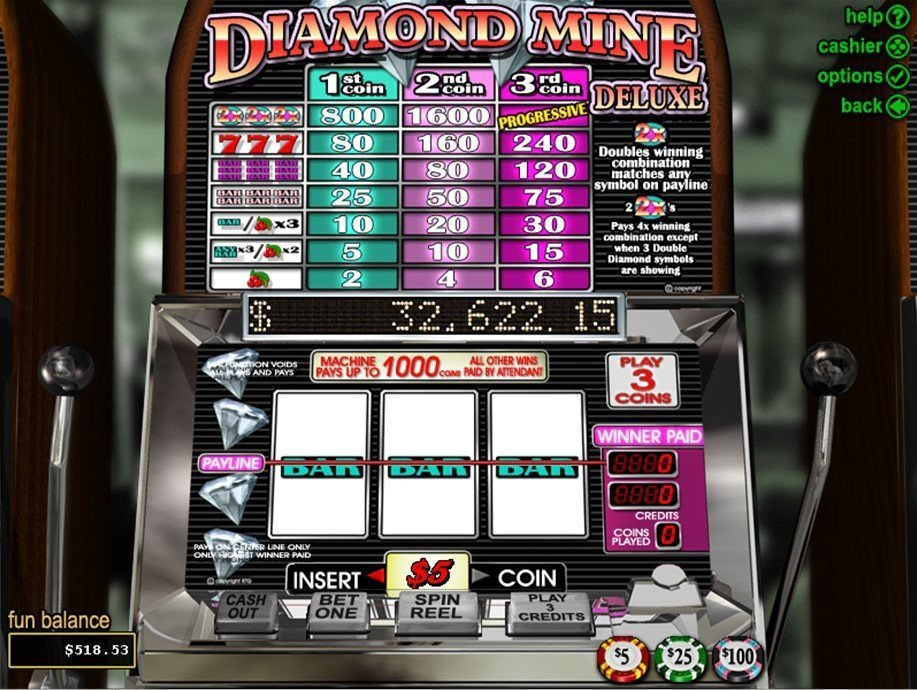 Diamond Mine Deluxe Slot Review