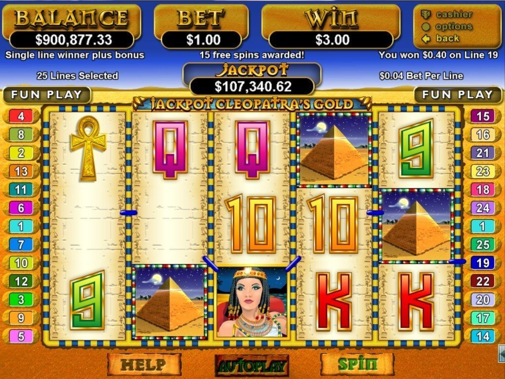 Jackpot Cleopatras Gold Slot Review
