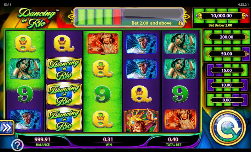 Dancing In Rio Slot Review