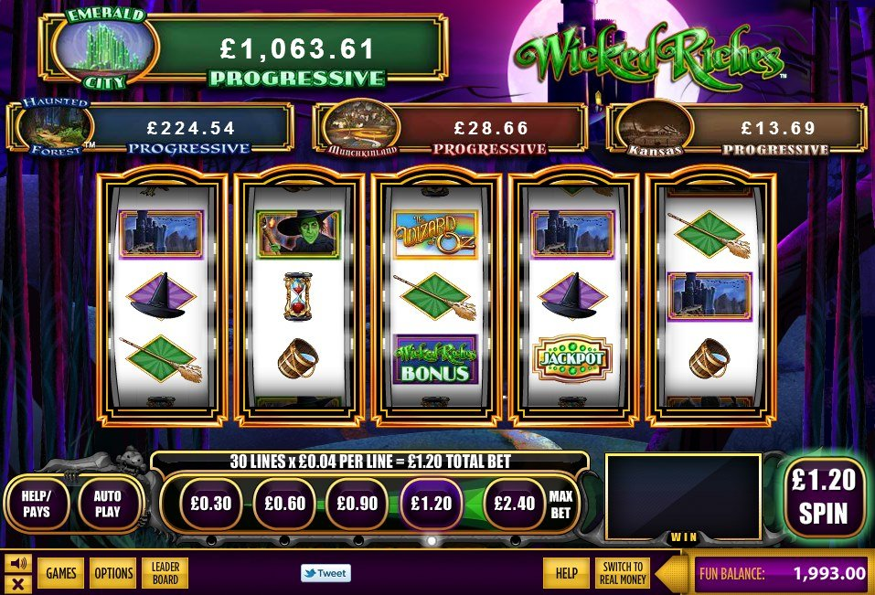 The Wizard Of Oz Wicked Riches Slot Review